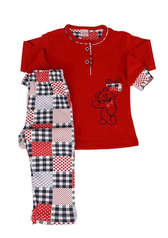 SİMİSSO - Simisso Pijama Takımı 888   Kırmızı