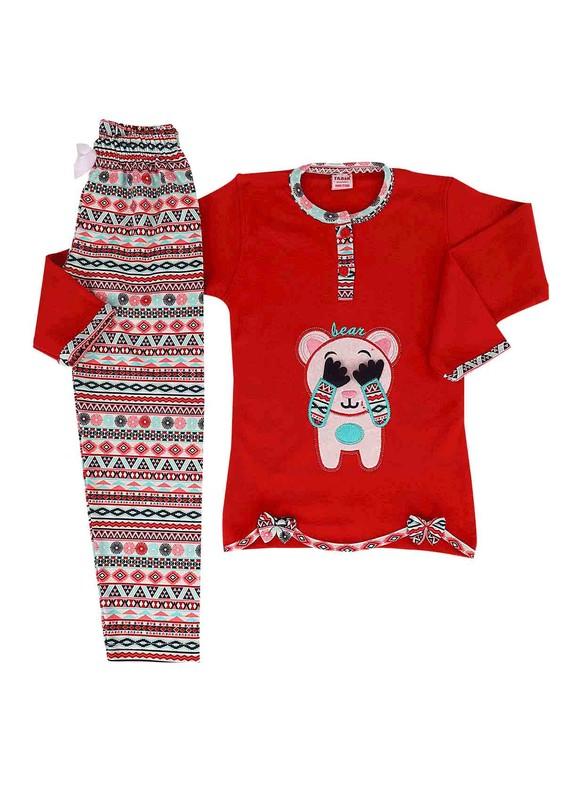 SİMİSSO - Simisso Pijama Takımı 977   Kırmızı