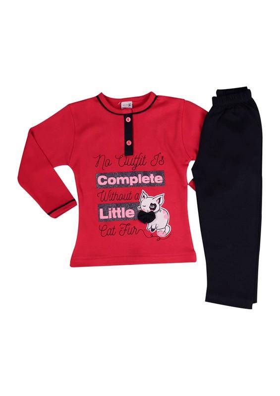 SİMİSSO - Simisso Pijama Takımı 9838   Kırmızı