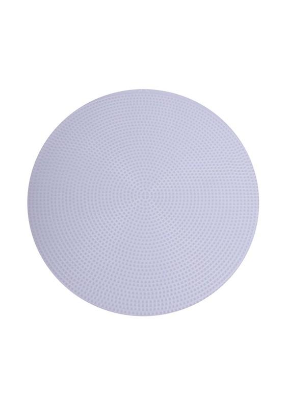 SİMİSSO - Simisso Plastik Çanta Kanvası Yuvarlak 29 cm   Beyaz