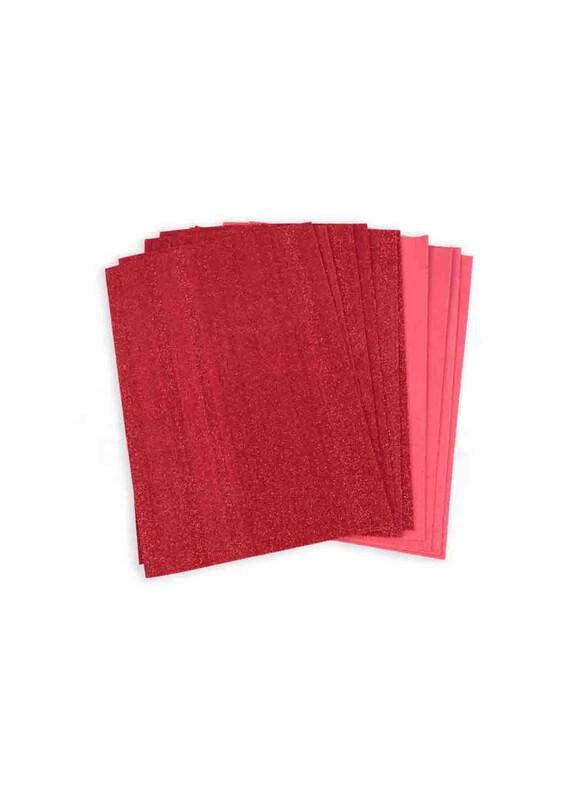 SİMİSSO - Simli Eva 20*30 cm 10'lu | Kırmızı