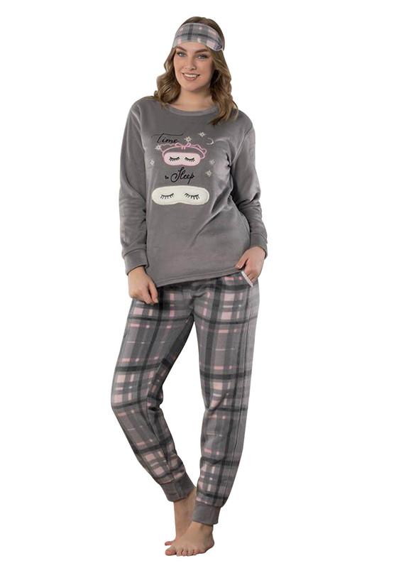 SNC - Snc Desenli Polar Pijama Takımı 7122 | Vizon