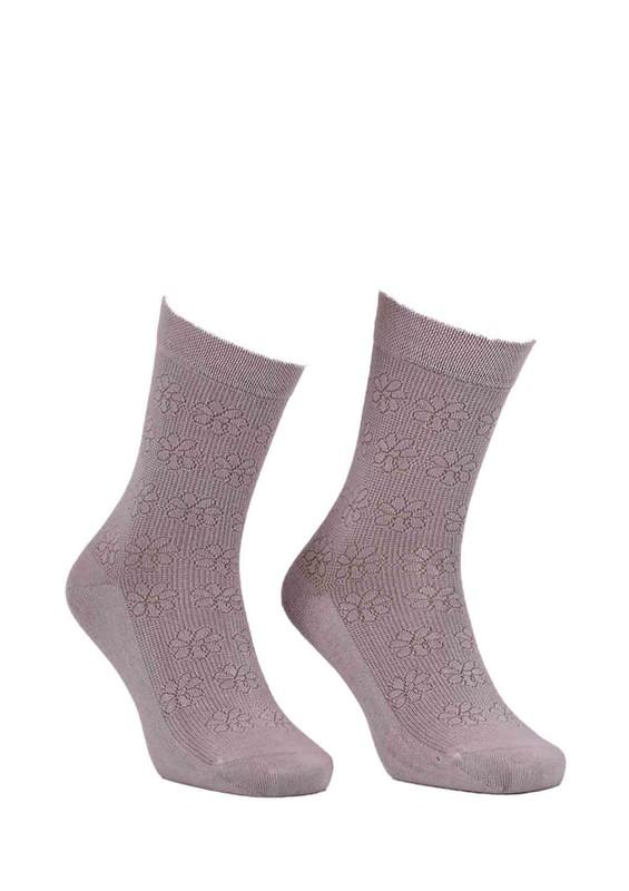 STRENNA - Çiçekli Bambu Çorap 405 | Bej