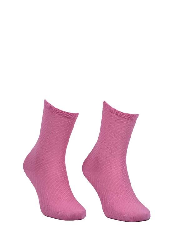 STRENNA - Çizgili Bambu Çorap 403 | Pembe