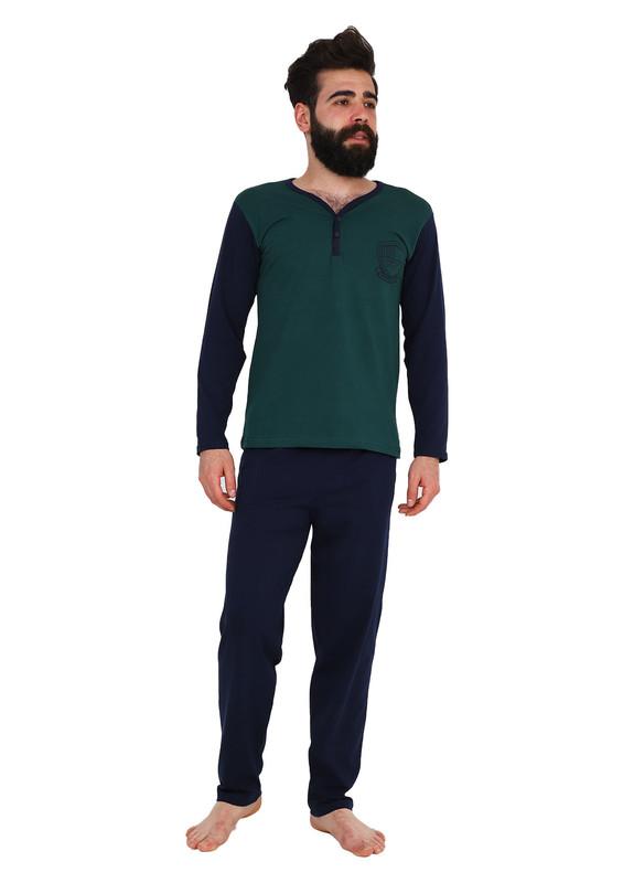 SUDE - Sude Pijama Takımı 062 | Lacivert Yeşil