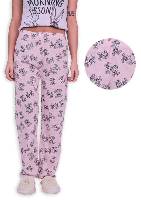 SİMİSSO - Tavşan Baskılı Kadın Pijama Altı | Pembe