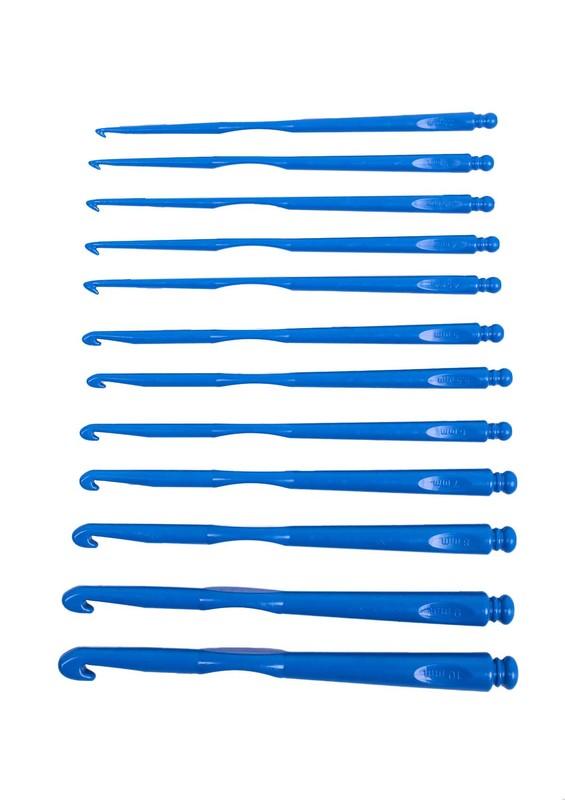 SİMİSSO - Simisso Plastik Tığ Seti 12'li Mavi