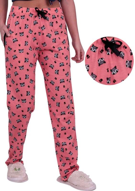 SİMİSSO - Tilki Baskılı Kadın Pijama Altı | Yavru Ağzı