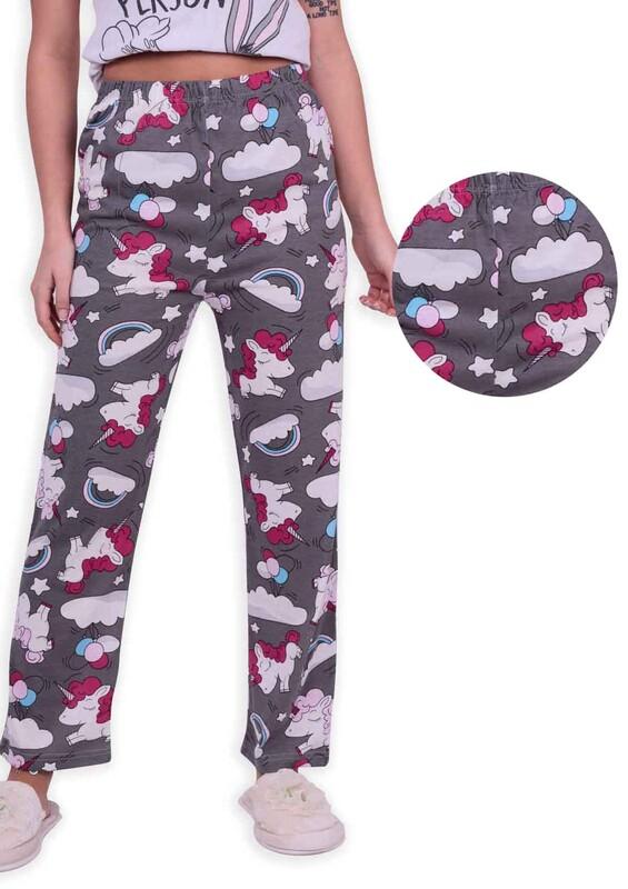 SİMİSSO - Unicorn Baskılı Kadın Pijama Altı | Gri