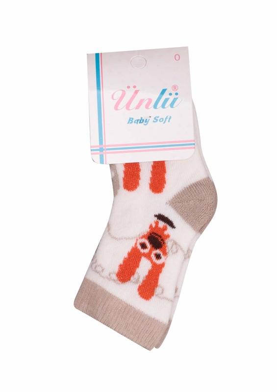 ÜNLÜ BABY - Ünlü Baby Çorap 002 | Krem