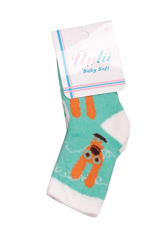 ÜNLÜ BABY - Ünlü Baby Çorap 002 | Yeşil