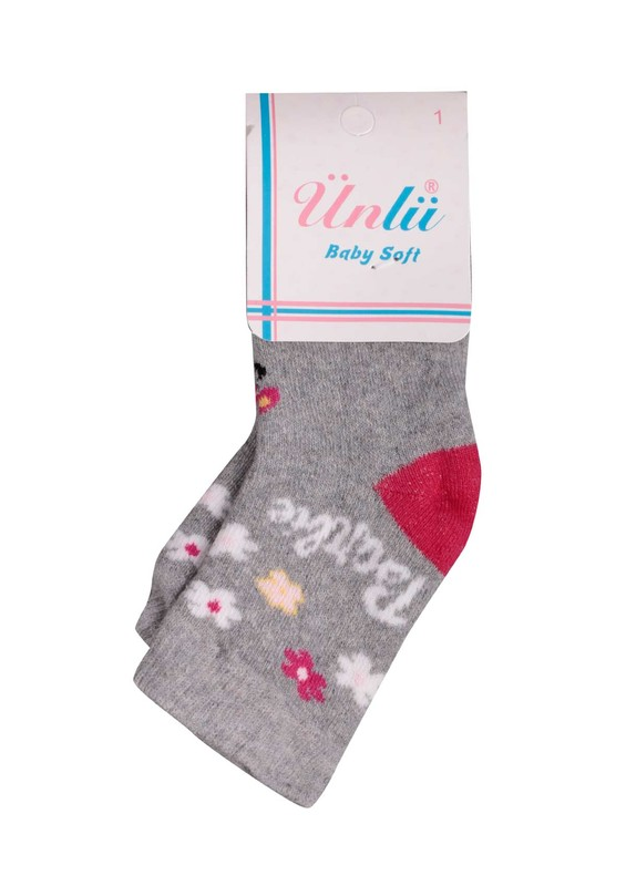 ÜNLÜ BABY - Ünlü Baby Çorap 106 | Gri