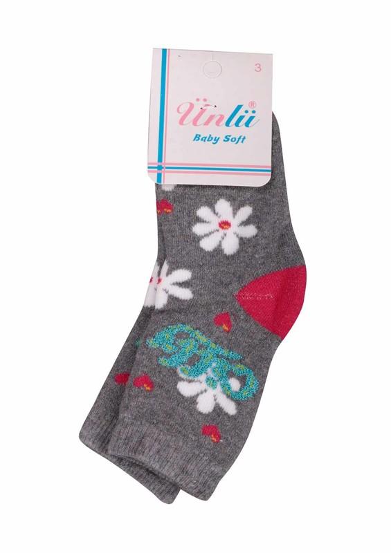 ÜNLÜ BABY - Ünlü Baby Çorap 107 | Gri