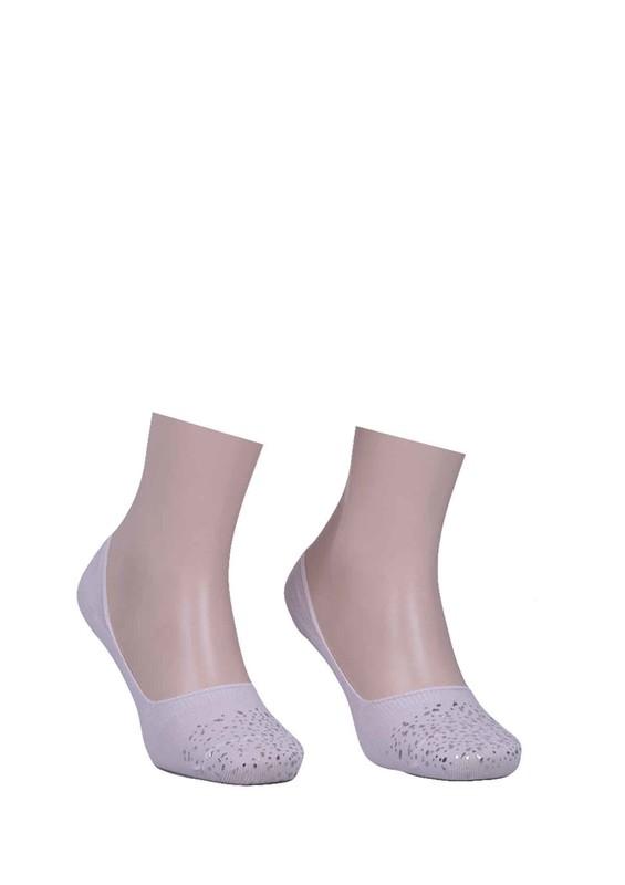 VİP - Vip Desenli Babet Çorap 313 | Beyaz
