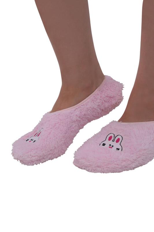 SAHAB - Welsoft Tavşan Nakışlı Kadın Patik Çorap 30600 | Pembe