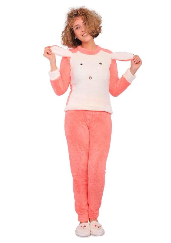 WESHA - Wesha Ribanalı Baskılı Welsoft Pijama Takımı 002 | Yavru Ağzı