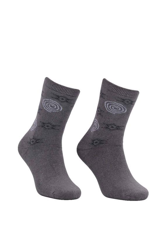 Modemo - Yıldız Desenli Havlu Çorap 2050   Gri