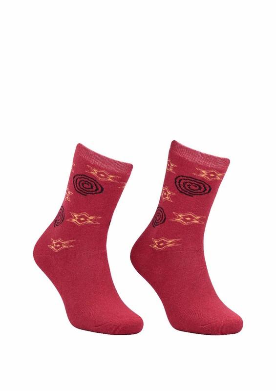 Modemo - Yıldız Desenli Havlu Çorap 2050 | Kırmızı