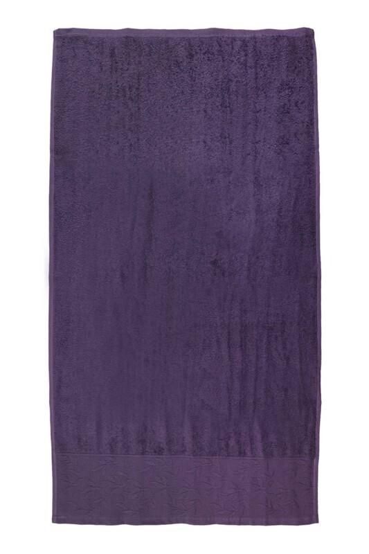 HAZANGÜLÜ - Hazangülü Tuana El ve Yüz Havlusu 50x90 cm | Mor