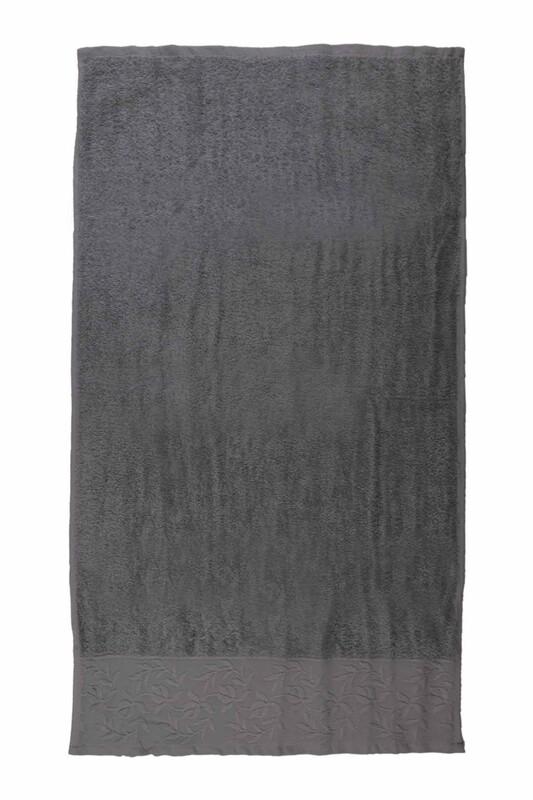 HAZANGÜLÜ - Hazangülü Tuana El ve Yüz Havlusu 50x90 cm | Gri