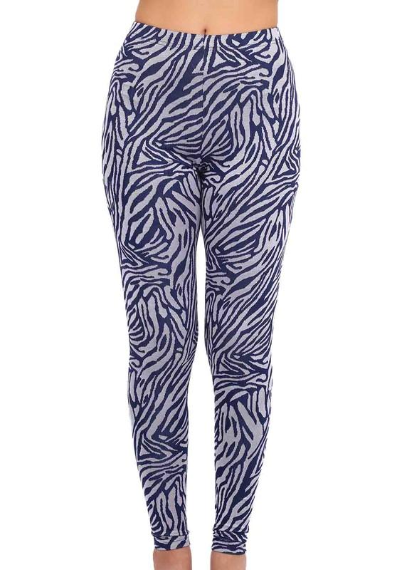 ENİMON - Zebra Desenli Jakar Tayt 375 | Gri